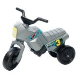 Tricicletă fără pedale mini, argintiu-negru