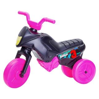 Tricicletă fără pedale mini, negru-roz
