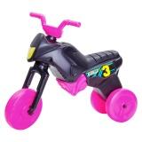 Tricicletă fără pedale MAXI, negru-roz