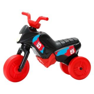 Tricicletă fără pedale MINI, negru-roşu
